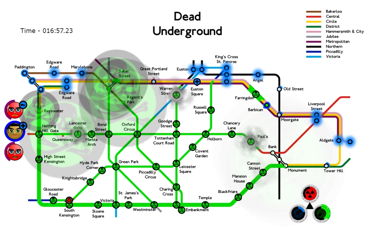 Dead Underground turns London's subway map into a zombie-strategy blast