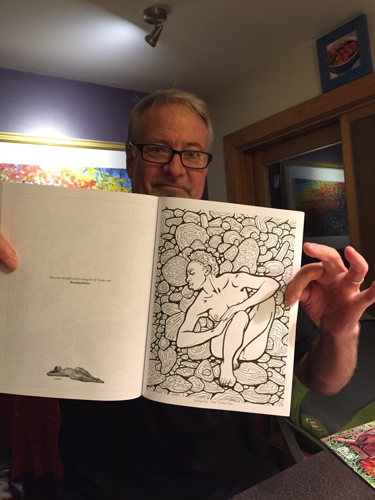 Color me stress free – Interview with Karl Gude creator of the Nude Coloringbook