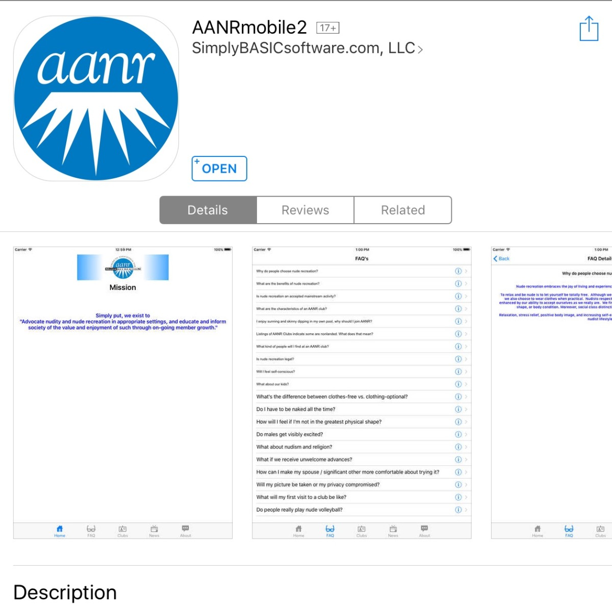 AANR mobile 2 AppReview